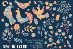 ETHNIC WINTER Folk Ornament Decor Fabric Print Doodle Product Image 3