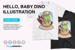 Hello, Baby Dino Vector Illustration Product Image 4