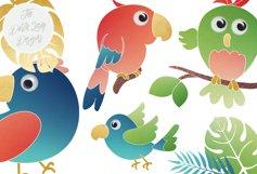 Tropical Parrots & Birds Clipart Set Product Image 3