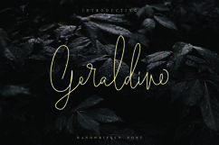 Geraldine | Hand Written Font Product Image 1