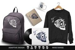 Human skull tattoo Product Image 2