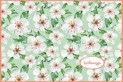 Blooming apple tree. Seamless floral pattern Product Image 1