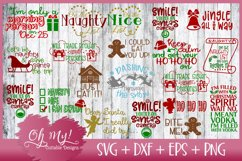 Oh My! Big Christmas Bundle 1 - 20 Designs SVG EPS DXF PNG Product Image 2