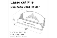 Business Card Holder - Laser cutting File Product Image 2