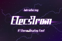 Elecstrom - Storm Display Font Product Image 1
