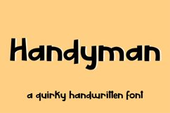 Handyman - a display font Product Image 1