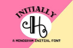 Intially - A Hand Lettered Monogram Font Product Image 1