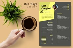 Modern Resume CV Template for Word & Pages Leah Campbell Product Image 2