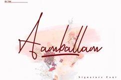Aamballam -/ Signature Fonts Product Image 1