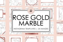 Rose Gold Marble Instagram Templates Product Image 1