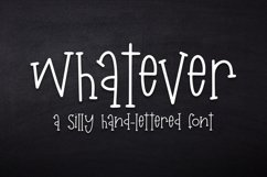 Web Font Whatever - A Silly Hand-Lettered Font Product Image 1
