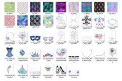 Iridescent Masquerade Digital Scrapbooking Kit Product Image 3