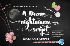 Nightamore Brush Calligraphy (Bonus Font) Product Image 3