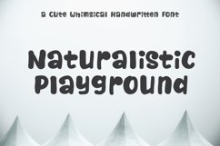 Naturalistic Playground | Cute Handwriting Product Image 1
