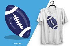 American Football Blue Ball T-Shirt Design | Sublimation Product Image 3