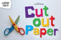 Cut Out Paper | Color Font Product Image 1