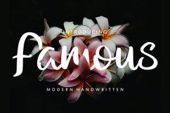Famous | Modern Handwritten Product Image 1