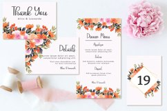 Lovely Peach And Pink Floral Wedding Invitation Set Product Image 3