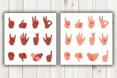 Vector cartoon hand gestures Product Image 5