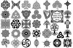 Celtic Symbols, Knots & Crosses AI EPS PNG, Irish Clip Art Product Image 1
