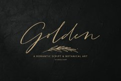 Golden, a romantic wedding script font Product Image 1