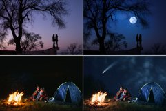 60 Night and Starry Sky Photo overlays Product Image 3