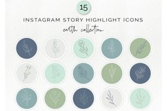 15 Instagram story highlight icons - doodle floral icon Product Image 1