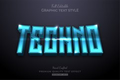 Techno Futuristic Editable Text Effect Font Style Product Image 1