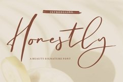 Web Font Honestly - A Beauty Signature Font Product Image 1