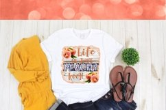 Life is Just Peachy Keen 300DPI PNG Printable Digital Design Product Image 2