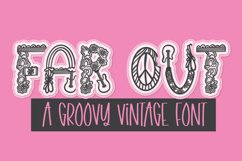 Far Out - A Groovy Retro Word Art Font Product Image 1
