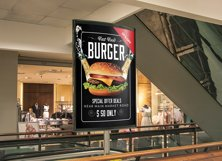 Restaurant Fast Food Bus Stop Banner Product Image 3
