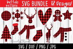 Buffalo pattern svg bundle, layered files Product Image 1