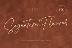 Signature Flavour | Handwritten Font Product Image 1
