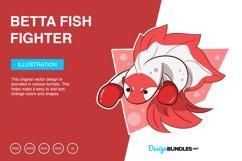 Betta Fish Fighter Vector Illustration Product Image 1