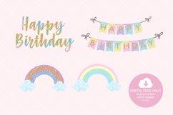 Unicorn Birthday Party Clip Art Product Image 2