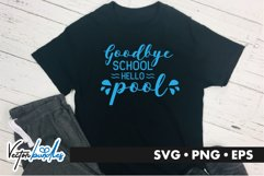Goodbye school hello pool quote svg Product Image 1