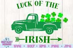 truck svg, clover svg, st patrick's day svg, luck, irish Product Image 2