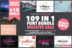 109 in 1 BEST FONT BUNDLE Product Image 1
