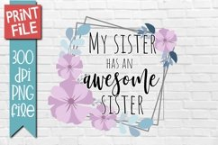 Sister Quote Sublimation Design Product Image 1
