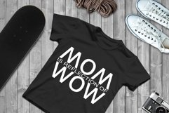 MOM is reflection of WOW SVG Files For Cricut Silhouette DXF Product Image 1