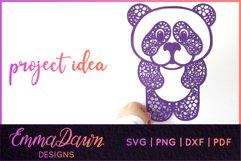PRIMROSE THE PANDA SVG MANDALA / ZENTANGLE 3 DESIGNS Product Image 7