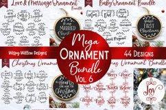 Mega Christmas Ornament SVG Bundle 6 | Round Christmas SVGs Product Image 1