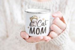 Cat mom Sublimation design Watercolor illustration Product Image 2
