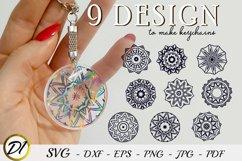 Keychain Mandala SVG. 9 Design to make keychains Product Image 1