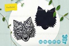 Wolf svg, Wolf mandala svg, Wolf head svg, animal svg file Product Image 4