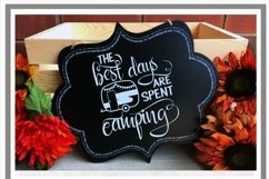 The Best Days Are Spent Camping Camper SVG Product Image 2