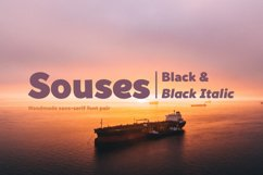 Souses — Black & Black Italic Product Image 1