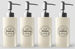 Round Stickers svg for bathroom Cosmetic Bottles svg Bundle Product Image 3