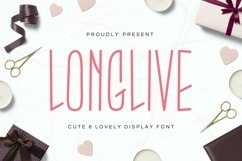 Longlive - Lovely Display Font Product Image 1